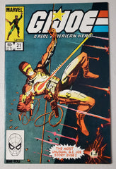 GI JOE A REAL AMERICAN HERO #21 (1ST APP STORM SHADOW) 1984