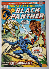 JUNGLE ACTION #6 (1ST BLACK PANTHER SOLO STORY.  1ST APP KILLMONGER) 1973