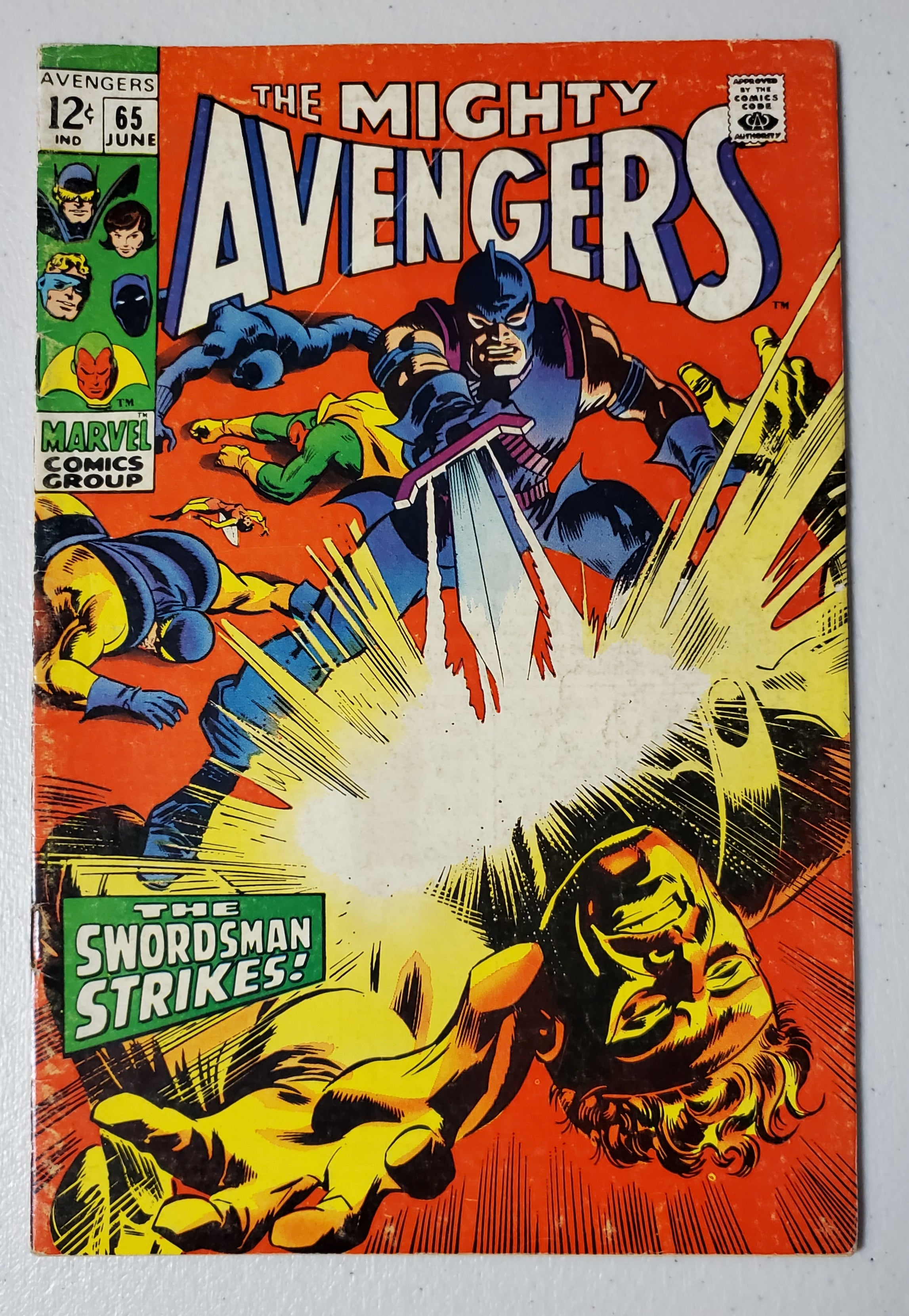 AVENGERS #65 (LAST 12 CENT ISSUE) 1969