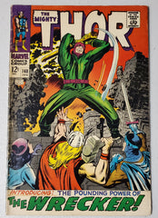 THOR #148 (ORIGIN & 1ST APP WRECKER.  ORIGIN BLACK BOLT) 1968
