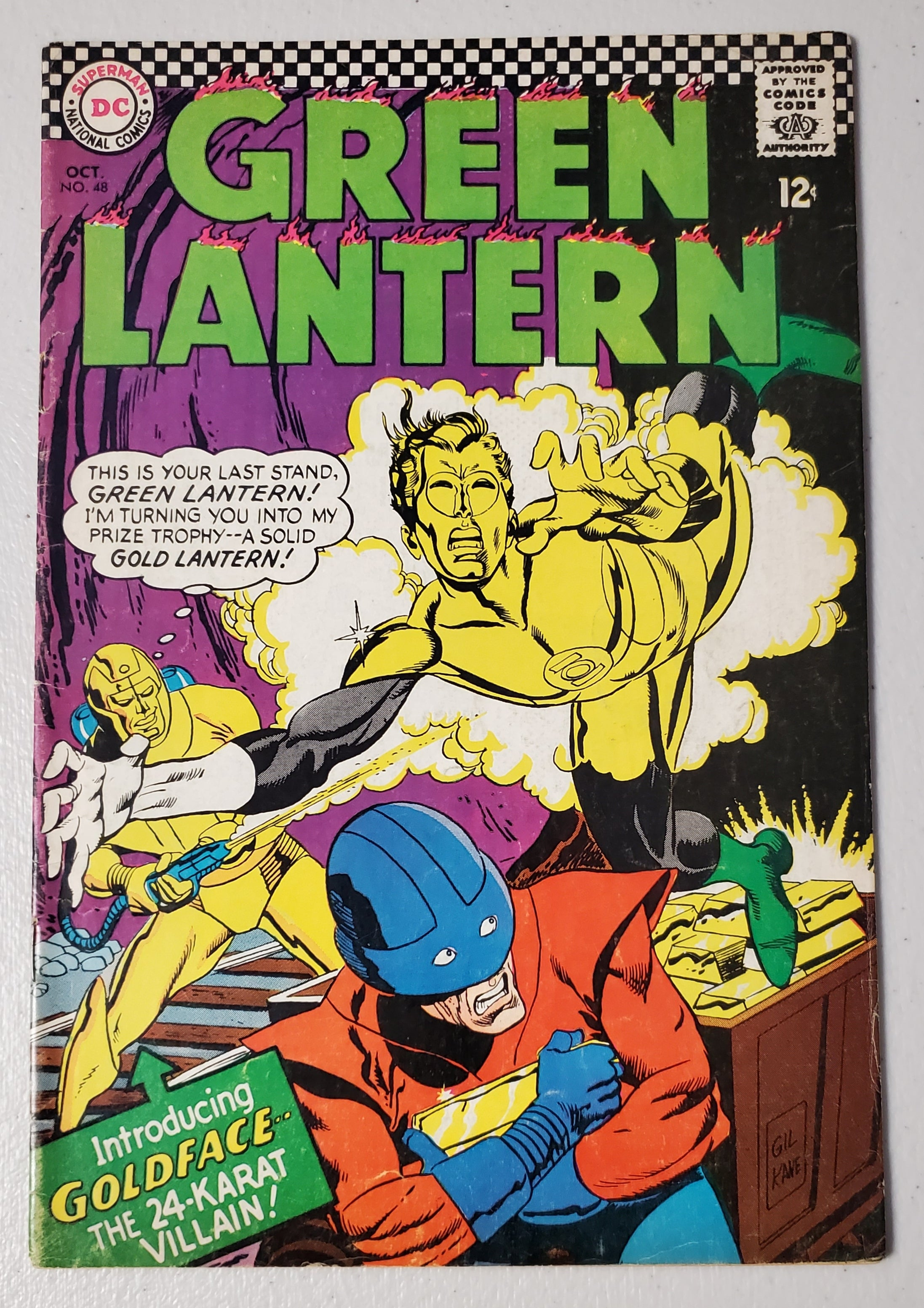 GREEN LANTERN #48 (1ST APP GOLDFACE. 2ND KEITH KENYON) 1966