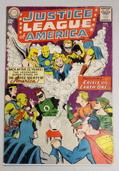 JUSTICE LEAGUE OF AMERICA #21 (1ST SILVER AGE APP OF HOURMAN, DOCTOR FATE, ICICLE & WIZARD) 1963
