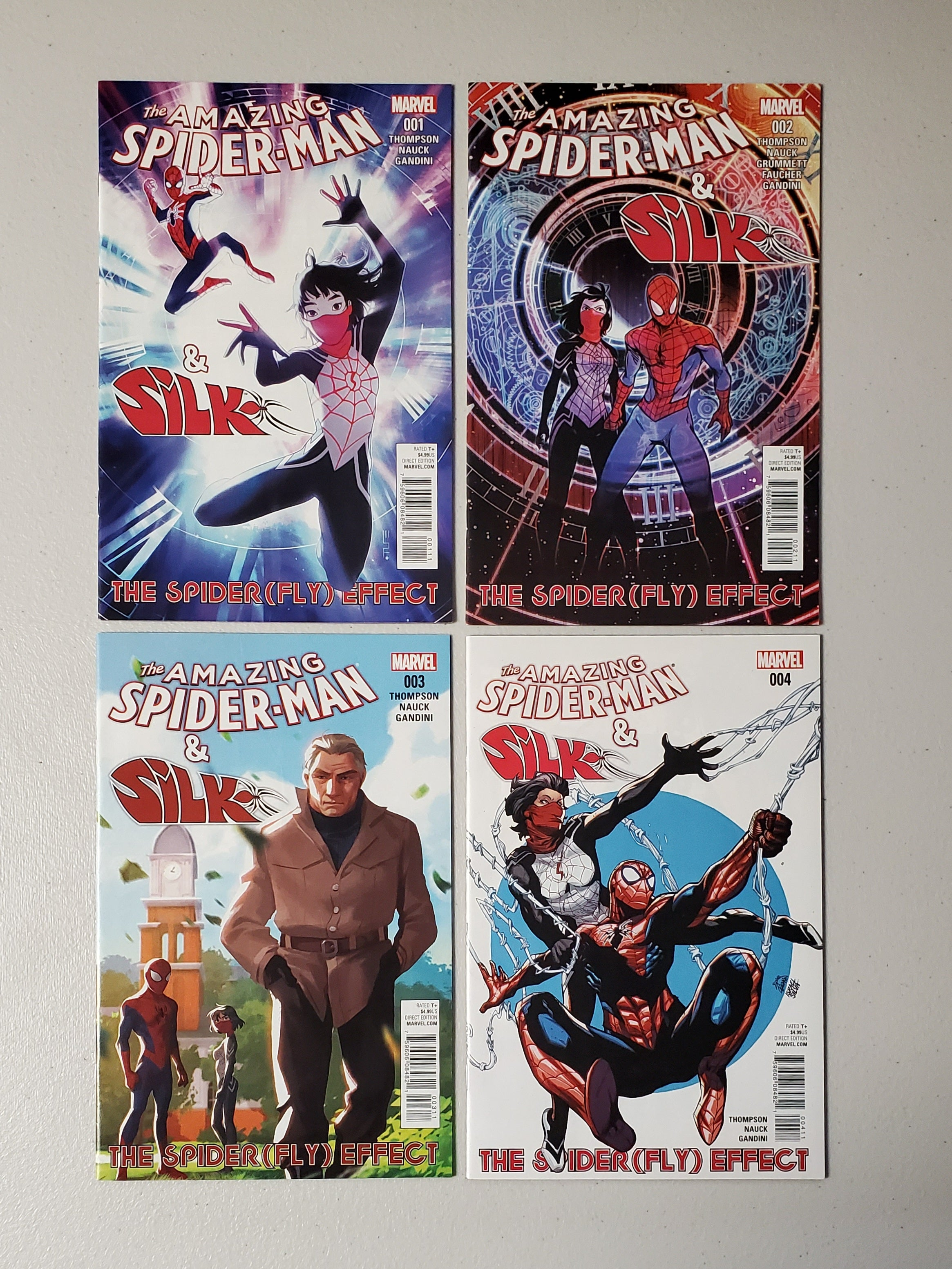 AMAZING SPIDER-MAN & SILK SPIDER (FLY) EFFECT #1-#4 COMPLETE SET