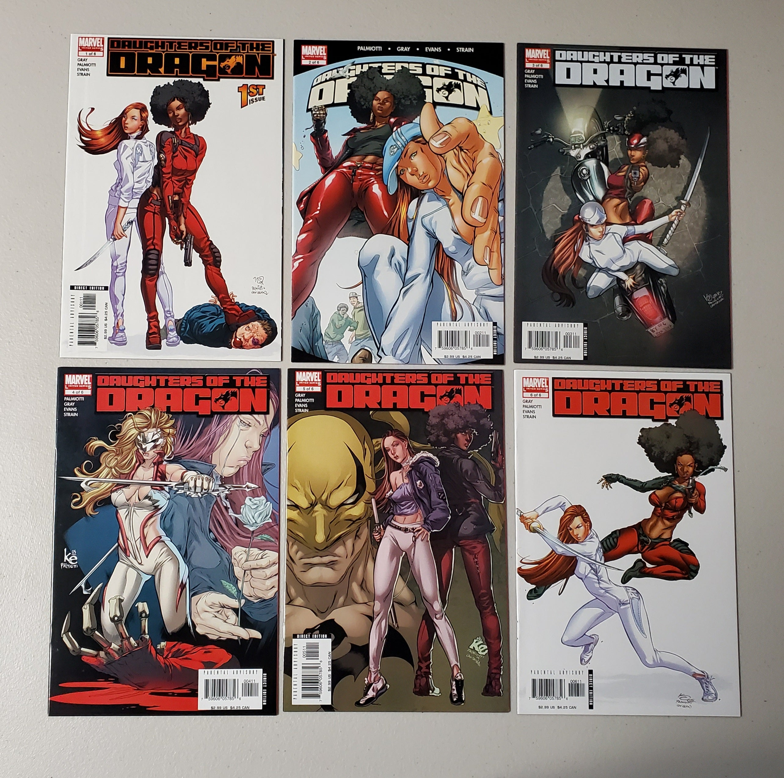 DAUGHTERS OF THE DRAGON #1-#6 COMPLETE SET