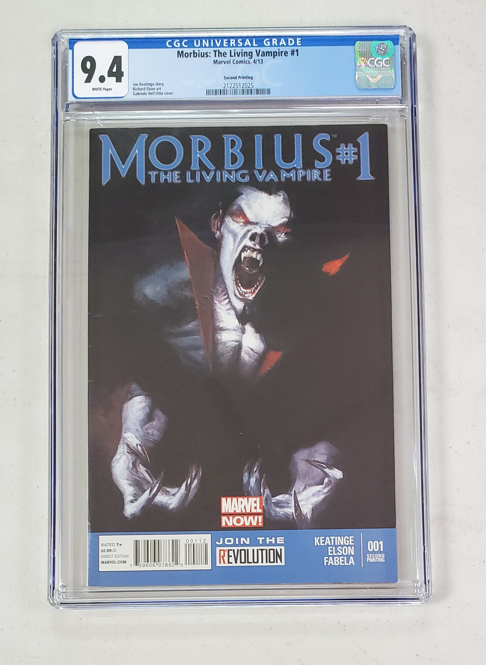 9.4 CGC Morbius the Living Vampire #1 2nd Print Dellotto 2013