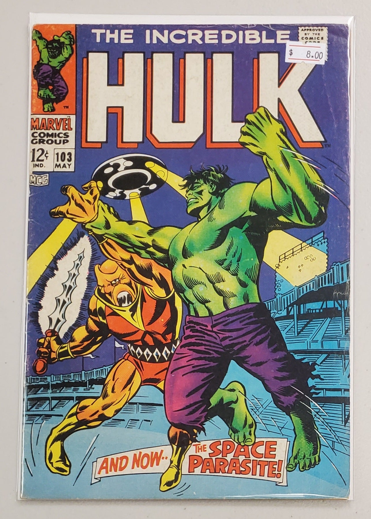 INCREDIBLE HULK #103 1968