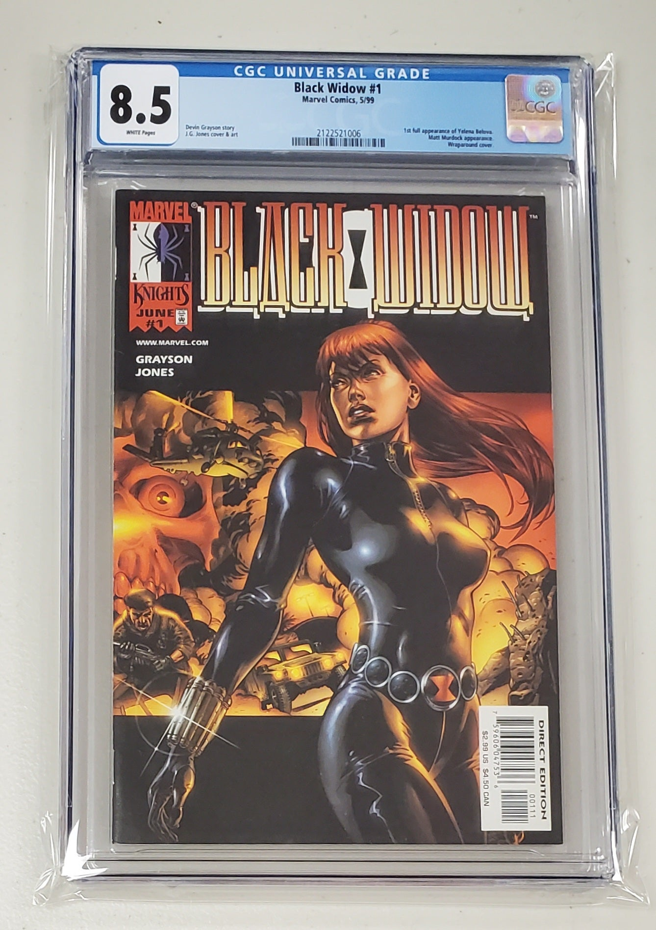 8.5 CGC BLACK WIDOW #1 JG JONES (1ST FULL APP YELENA BELOVA) 1999