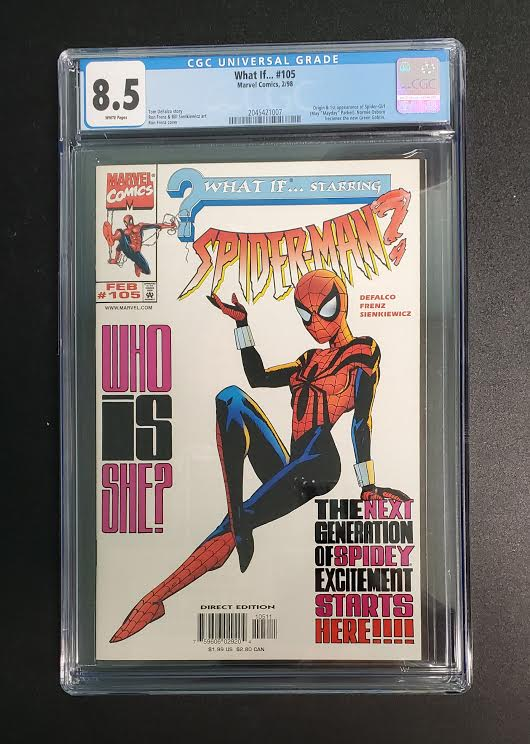 8.5 CGC What If?  #105 (1st Spider-Girl) 1998
