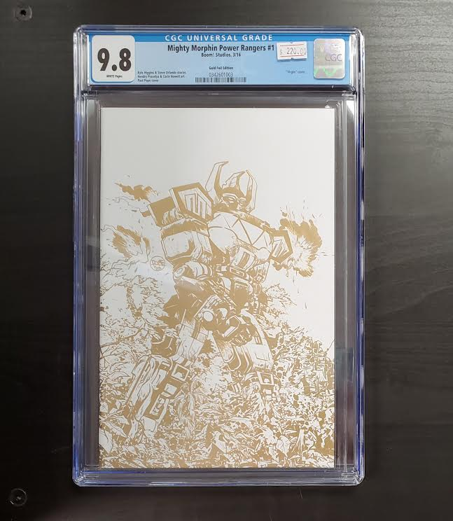 9.8 CGC MIGHTY MORPHIN  POWER RANGERS #1 1:200 GOLD VIRGIN VARIANT 2016