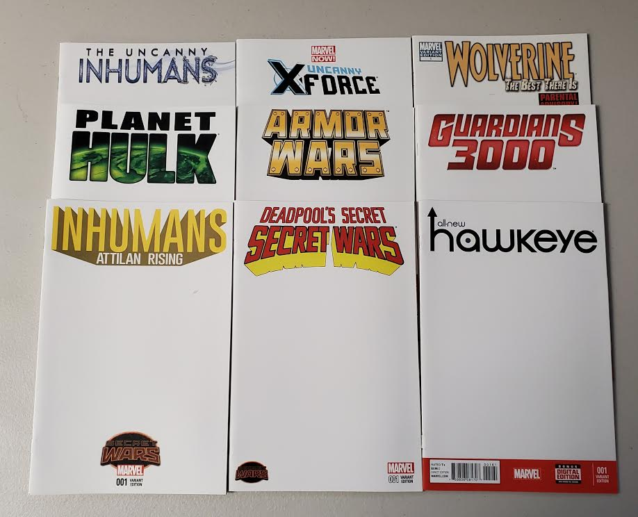 MARVEL BLANK SKETCH COVER LOT