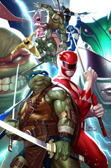 12/04/2019 POWER RANGERS TEENAGE MUTANT NINJA TURTLES #1 SSCO 5 STAR EXCLUSIVES INHYUK LEE VIRGIN & QUAH + NGU VIRGIN WRAPAROUND JAM VARIANT SET