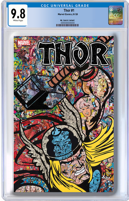 ESTIMATED 03/2020 9.8 CGC BLUE LABEL THOR #1 MR GARCIN COLLAGE VARIANT
