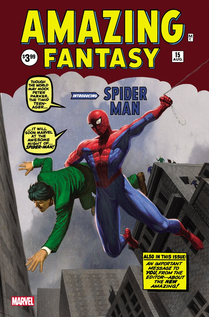 AMAZING FANTASY #15 FACSIMILE EDITION EXCLUSIVE HOMAGE VARIANT 2019