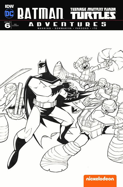05/10/2017 BATMAN TEENAGE MUTANT NINJA TURTLES ADVENTURES #6 TMNT C2E2 B&W SKETCH VARIANT