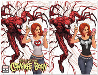 WEB OF VENOM CARNAGE BORN #1 DAVID NAKAYAMA Set of 2 Trade Dress + Virgin KRS Exclusive Variant 2018