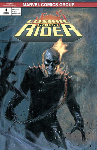 COSMIC GHOST RIDER #1 (OF 5) Unknown Comic Books Exclusive Dellotto Variant 2018