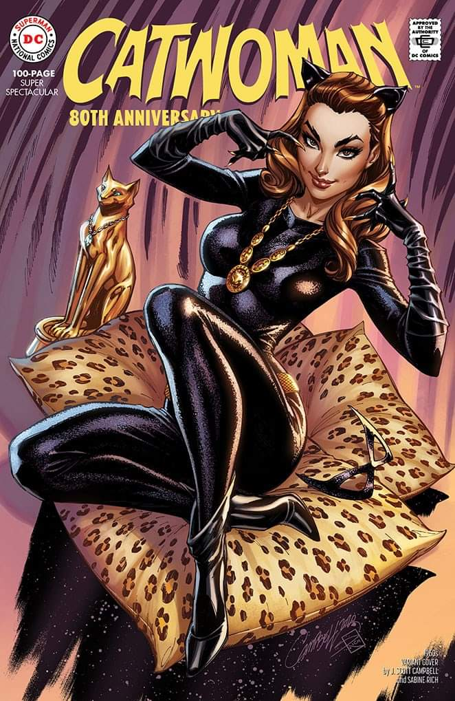 04/15/2020 CATWOMAN 80TH ANNIV 100 PAGE SUPER SPECT #1 1960S J SCOTT CAMPBELL VARIANT (NEW RELEASE DATE 06/03/2020)