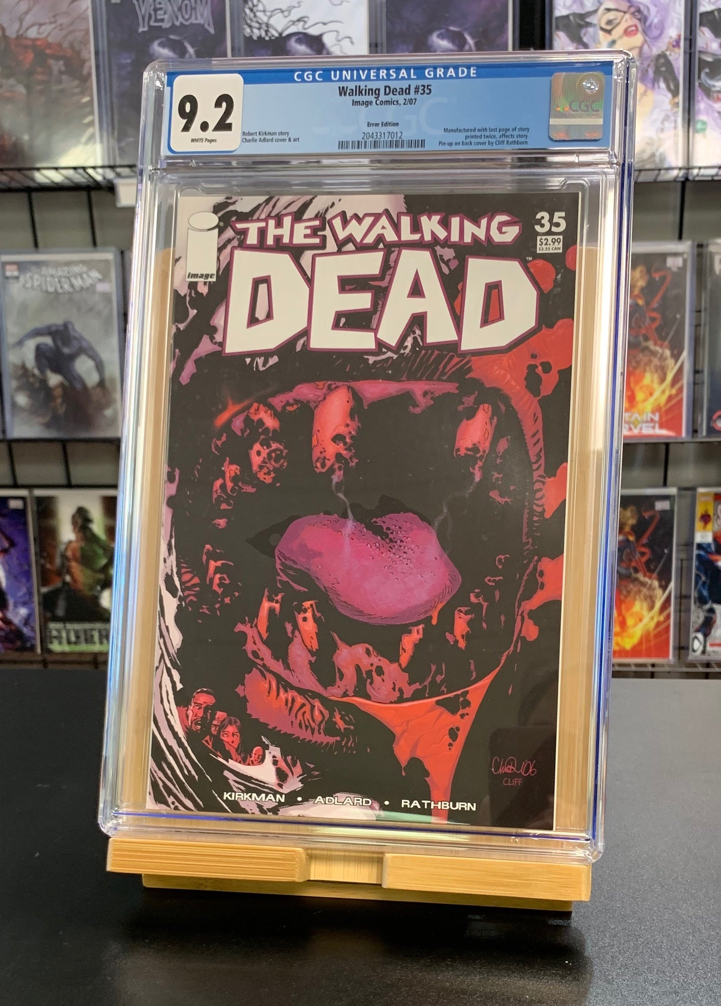 9.2 CGC Walking Dead #35 ERROR EDITION RARE Kirkman Image Comics 2007