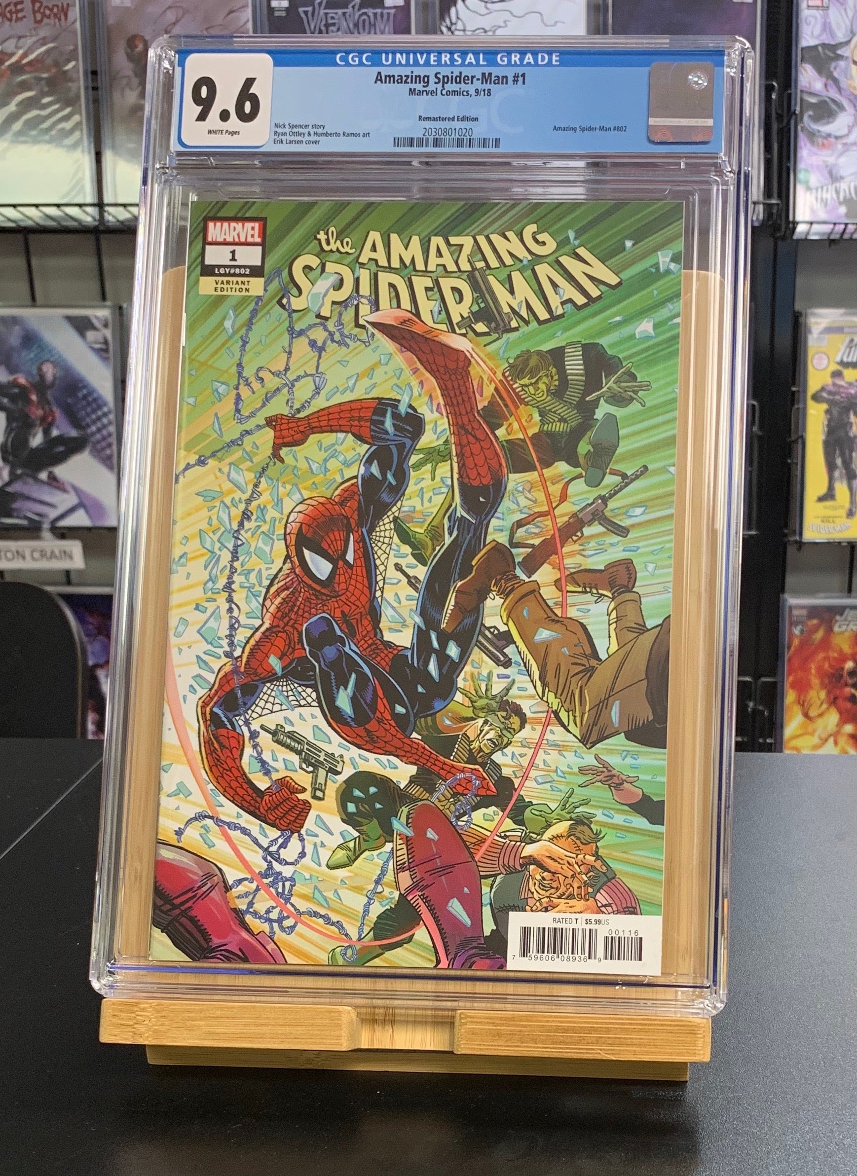 9.6 CGC Amazing Spider-Man #1 1:1000 Remastered Variant 1st Kindred Marvel 2018