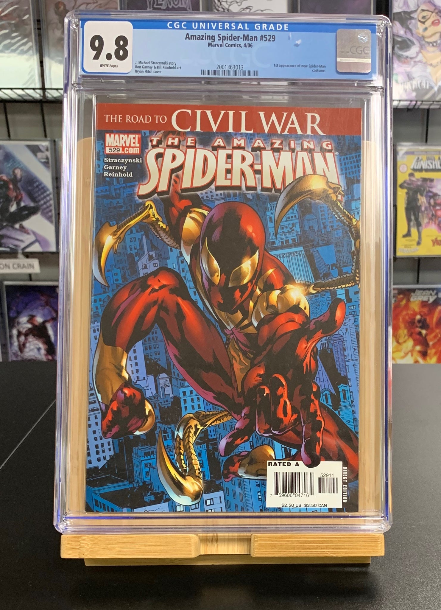 9.8 CGC Amazing Spider-Man #529 1st Iron Spider Suit Marvel Comics 2006