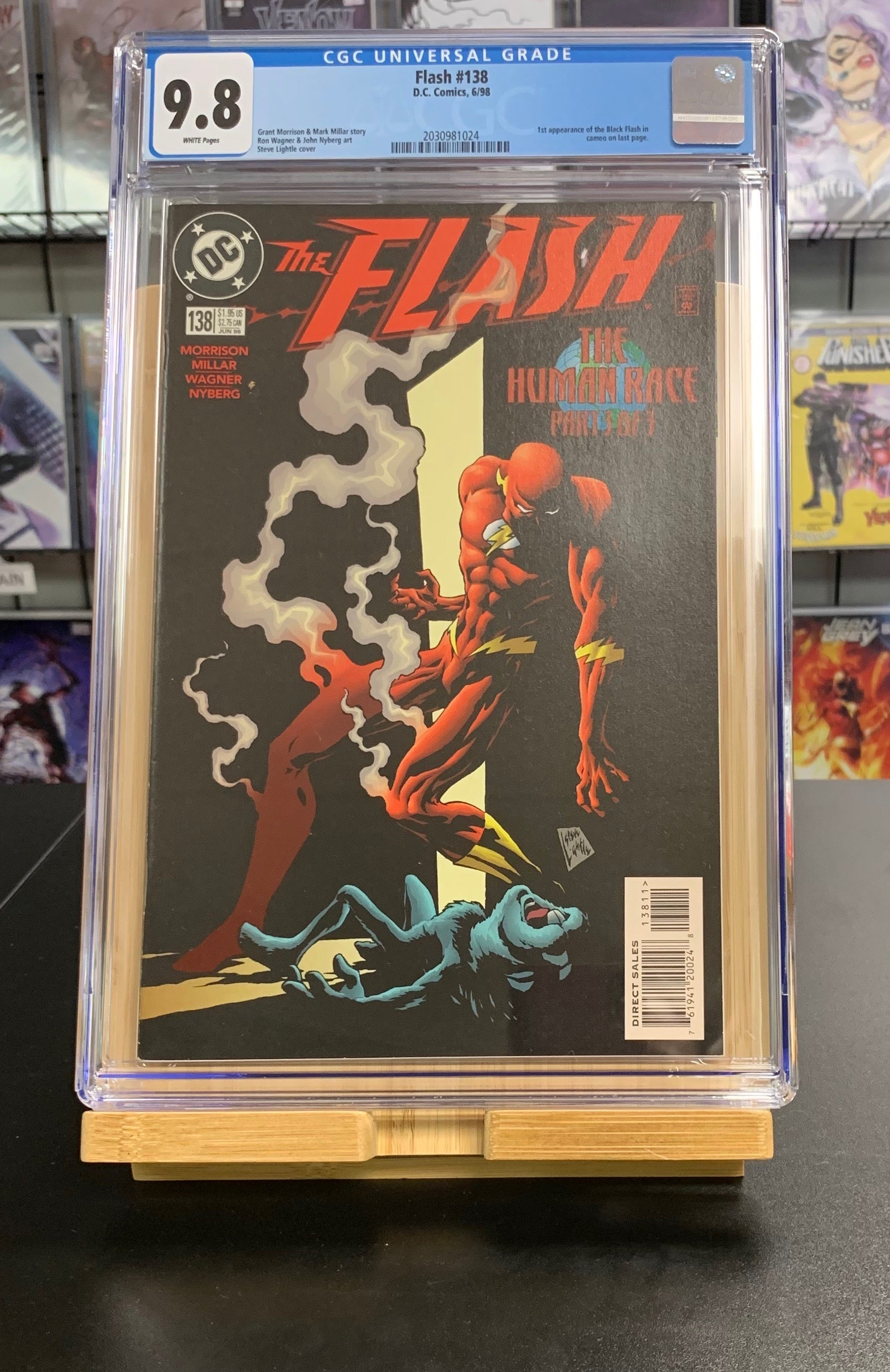 9.8 CGC Flash #138 1st Cameo App Black Flash DC Comics 1998