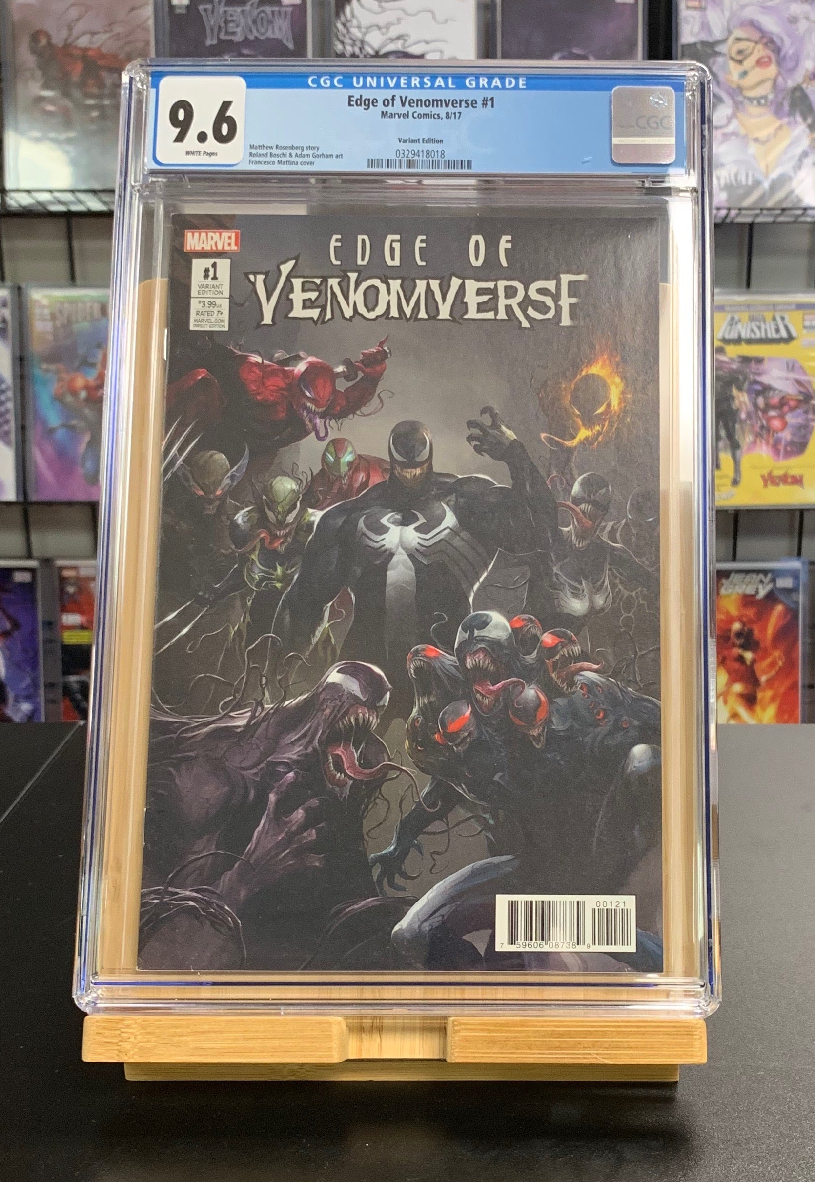 9.6 CGC Edge of Venomverse #1 1:50 Mattina Variant Marvel Comics 2017