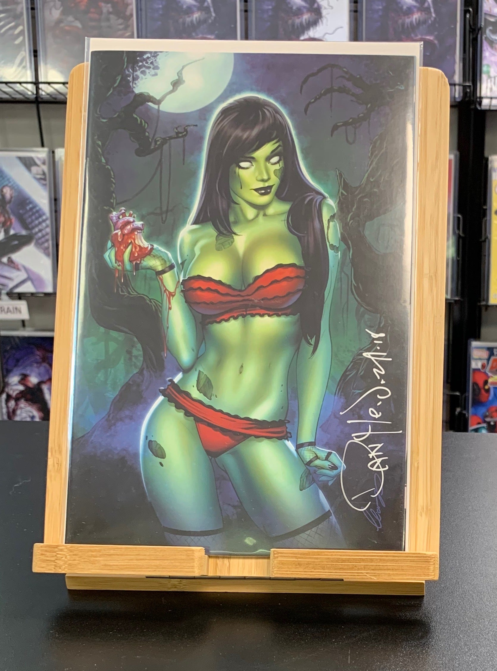 Zombie Tramp #50 Non-Risque Virgin Variant SIGNED by Dan Mendoza Action Lab Comics 2018