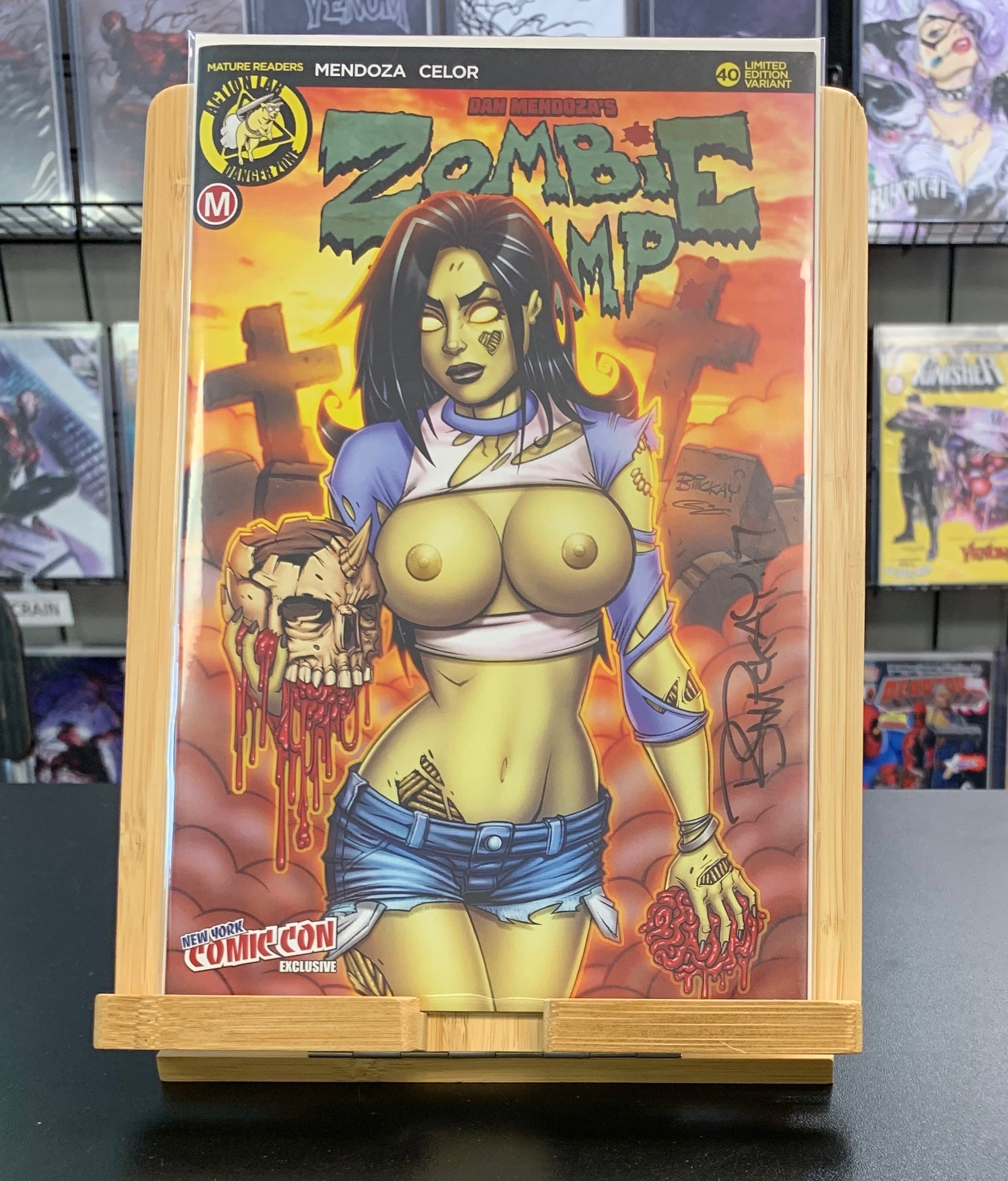 Zombie Tramp #40 NYCC Variant SIGNED by Bill McKay Action Lab Comics 2017
