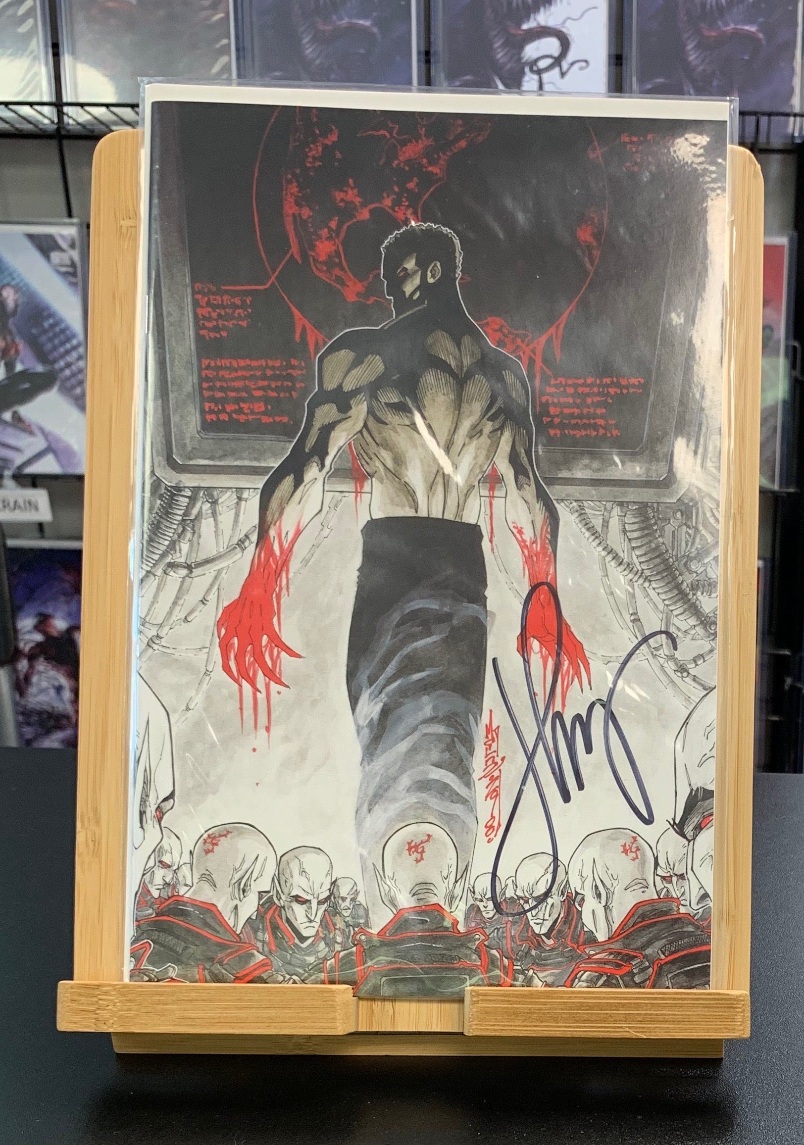 V-Wars: God of Death Virgin 1:20 Signed Jonathan Maberry IDW 2019