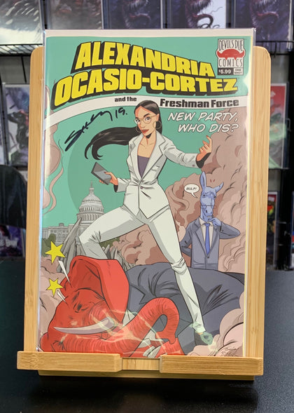 ALEXANDRIA OCASIO CORTEZ & FRESHMAN FORCE WHO DIS SIGNED BY TIM SEELEY 2019