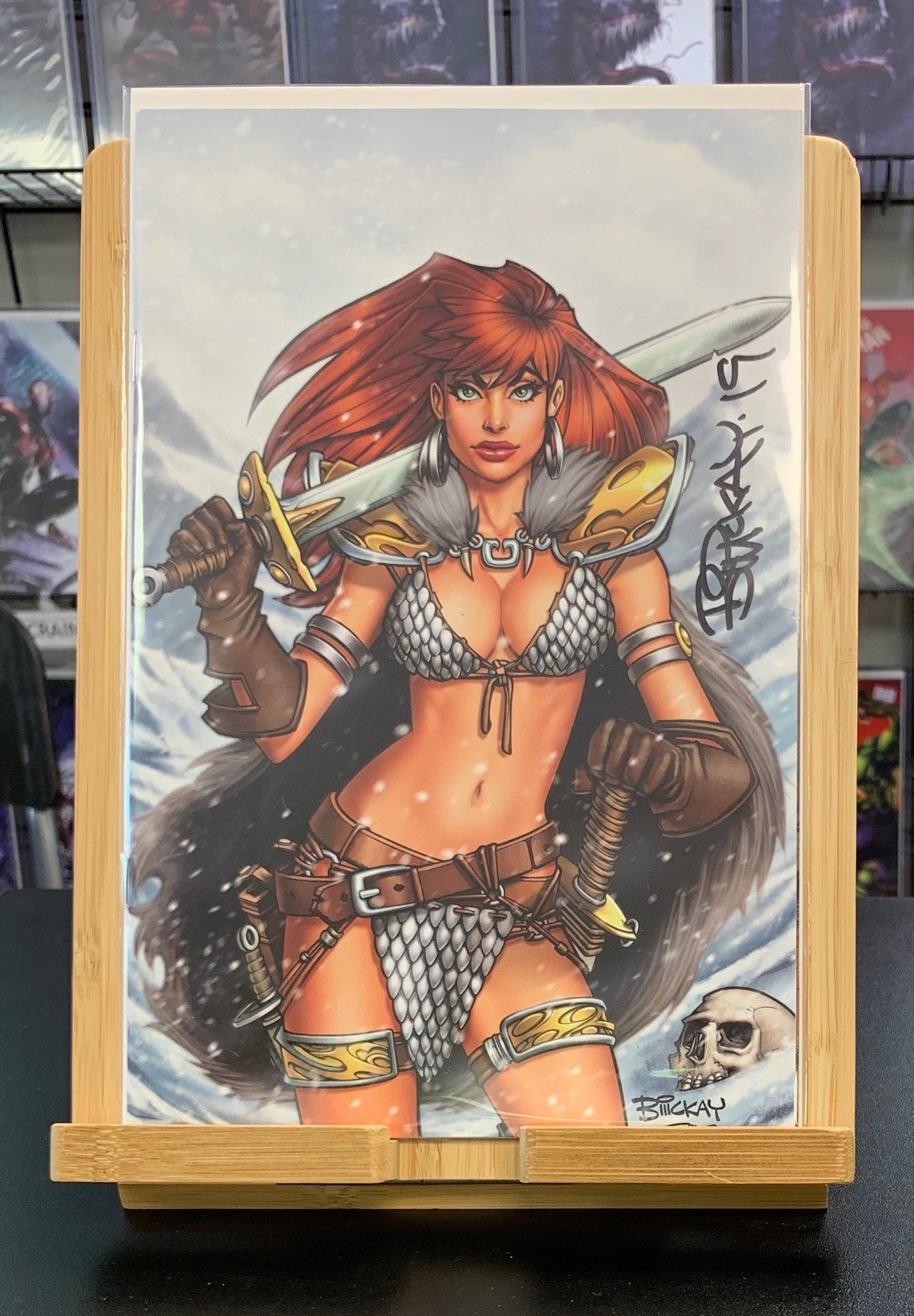Red Sonja #1 Variant SIGNED BY Bill McKay