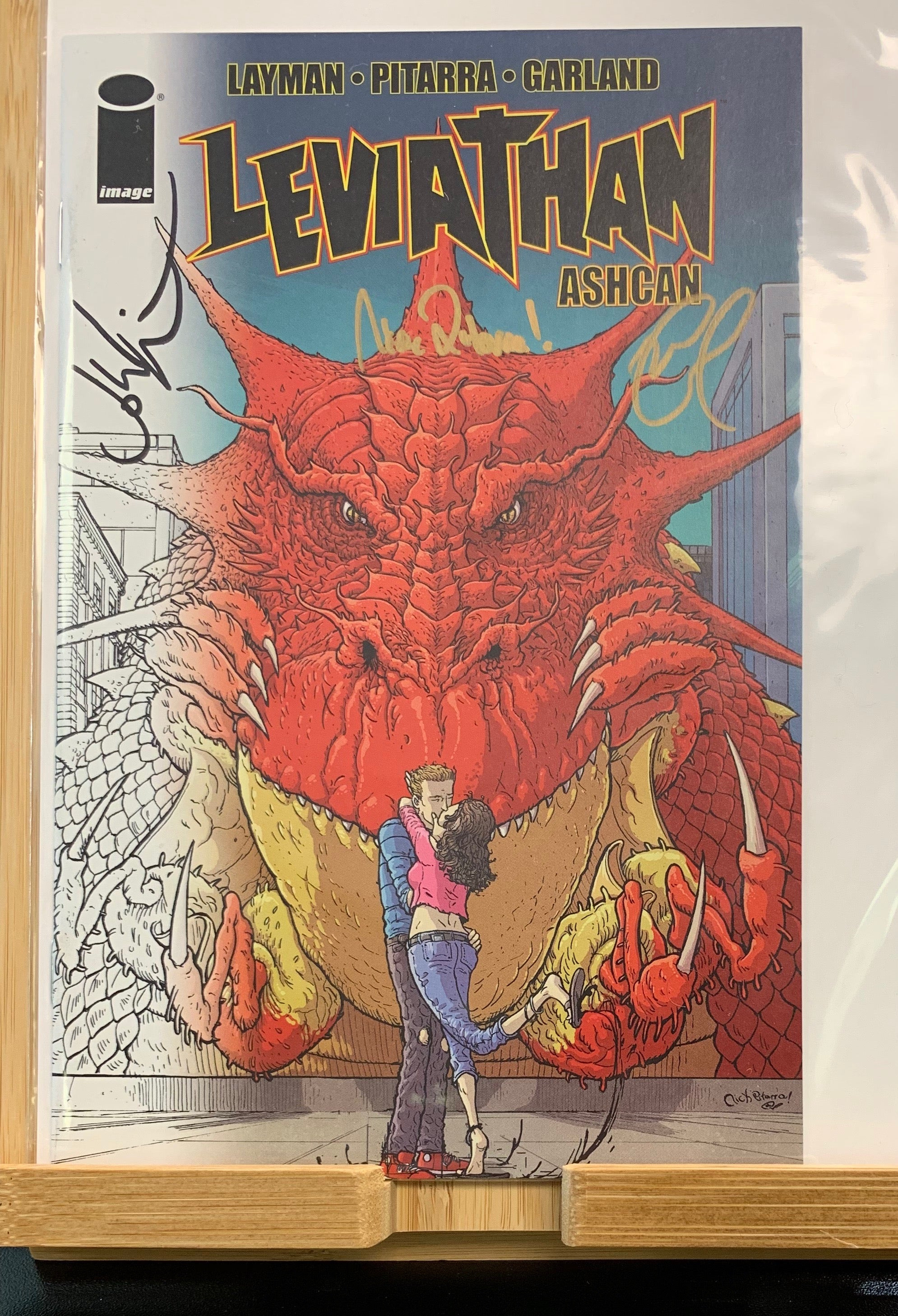 Leviathan #1 C2E2 Retailer Exclusive Ashcan Signed by Layman Pitarra Garland