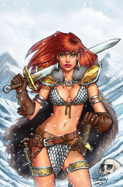 02/06/2019 RED SONJA #1  SSCO EXCLUSIVE BILL MCKAY VIRGIN VARIANT
