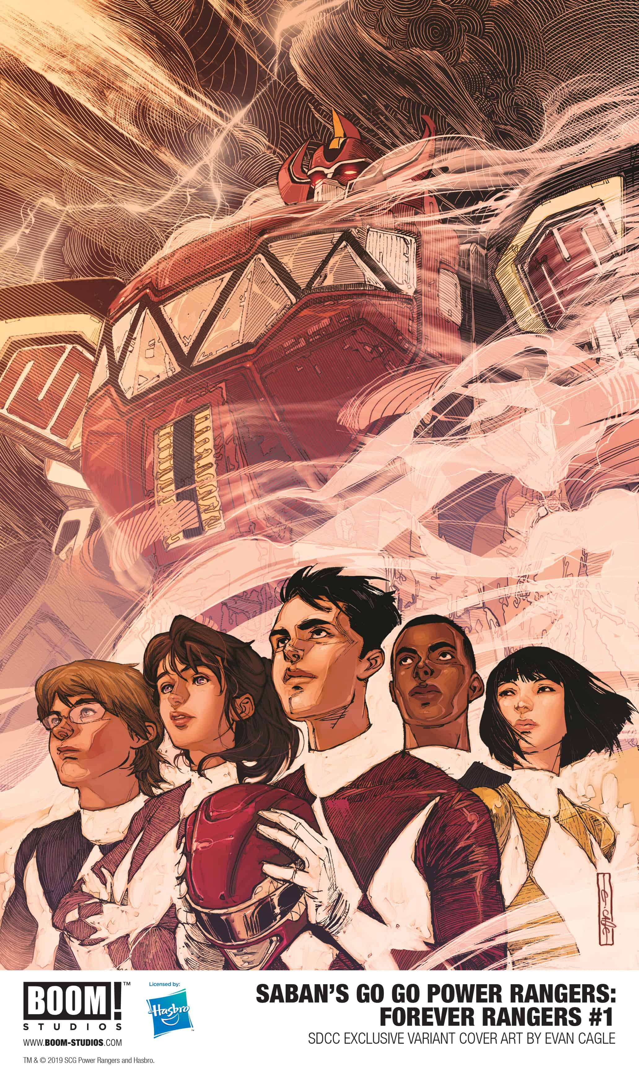 Saban's Go Go Power Rangers: Forever Rangers #1 SDCC Exclusive Evan Cagle Variant