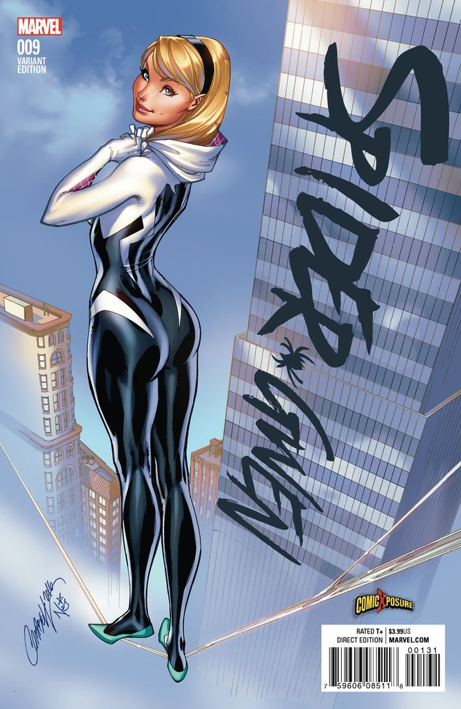 SPIDER-GWEN VOL 2 #9 Exclusive J Scott Campbell Variant 2015