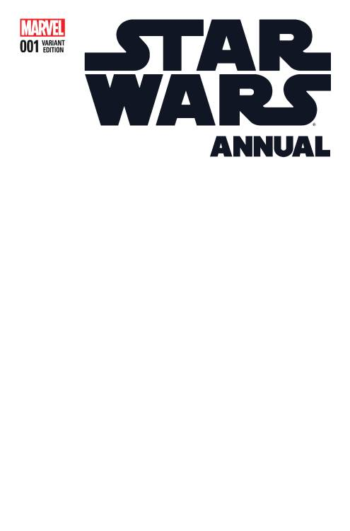 12/16/2015 STAR WARS ANNUAL #1 BLANK VARIANT