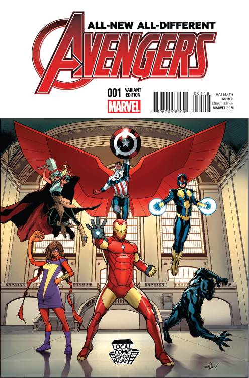 11/11/2015 ALL NEW ALL DIFFERENT AVENGERS #1 MARQUEZ LCSD VARIANT
