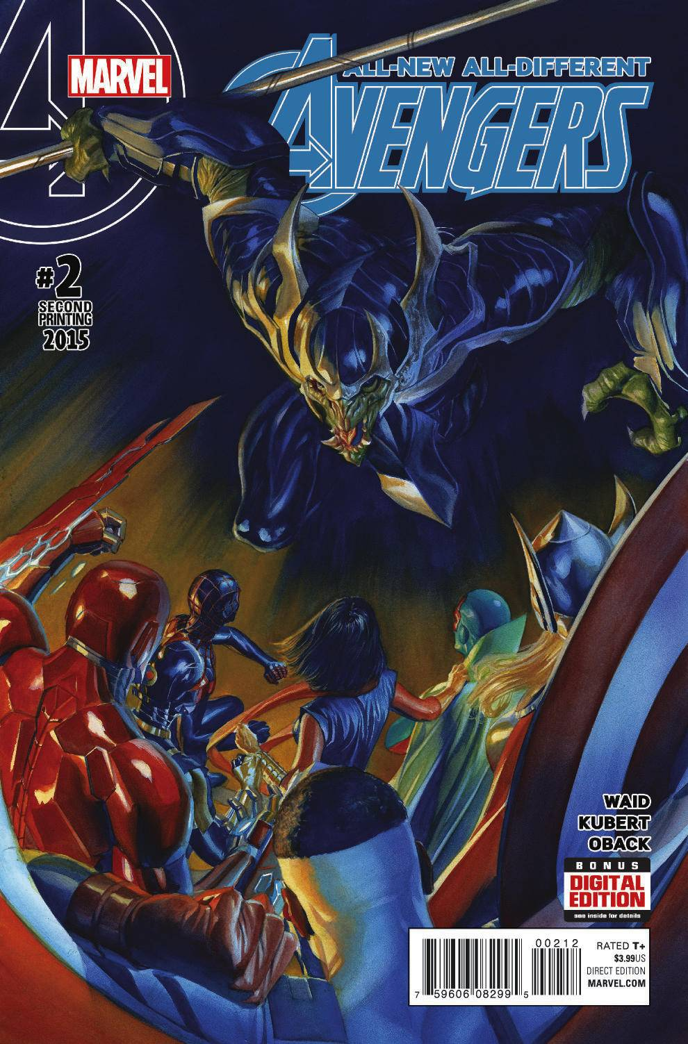 01/13/2016 ALL NEW ALL DIFFERENT AVENGERS #2 ALEX ROSS 2ND PTG VARIANT