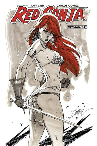RED SONJA #3 CVR B J Scott Campbell Variant 2017