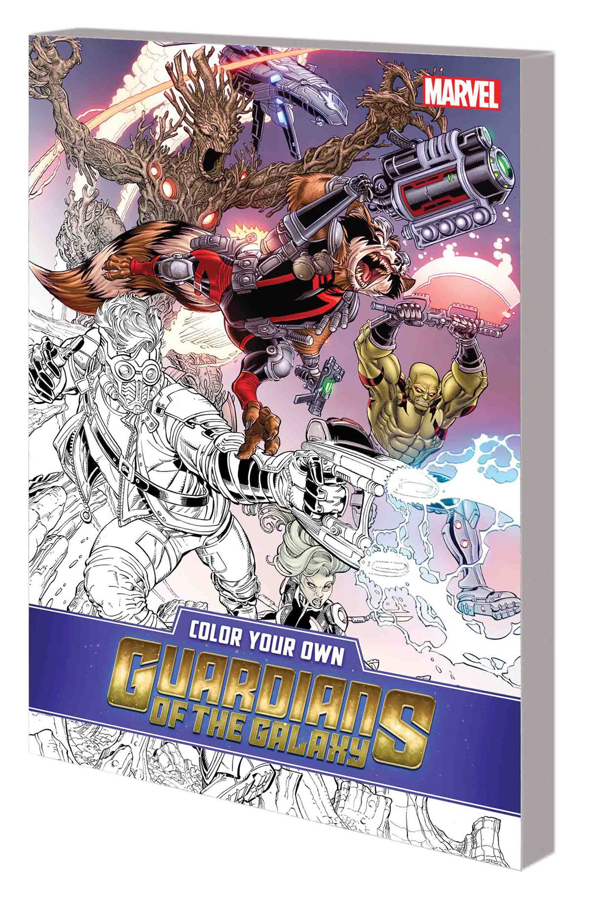 COLOR YOUR OWN GUARDIANS OF GALAXY (COLORING BOOK) TP