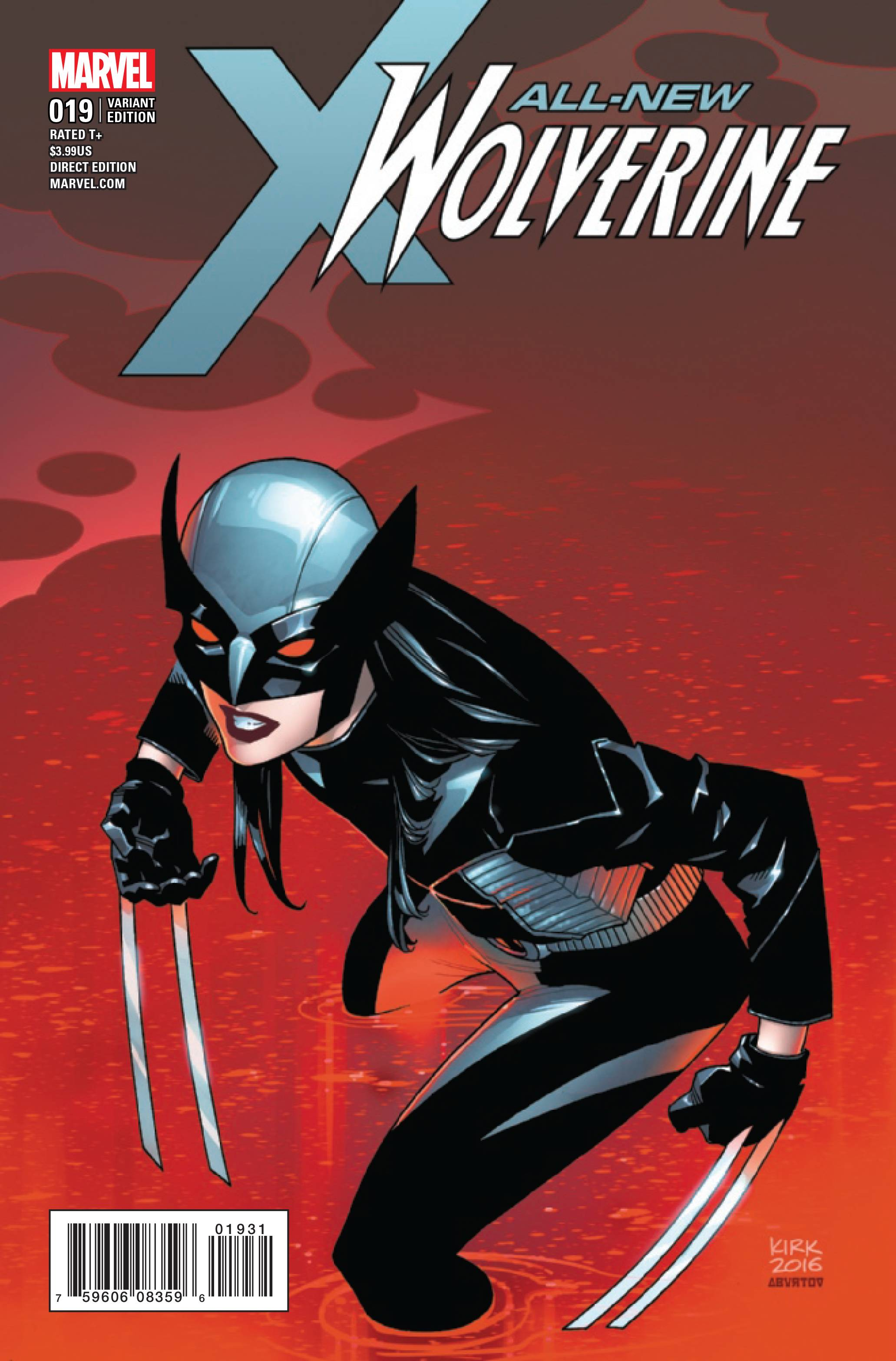 04/05/2017  ALL NEW WOLVERINE #19 KIRK 1:25 VARIANT