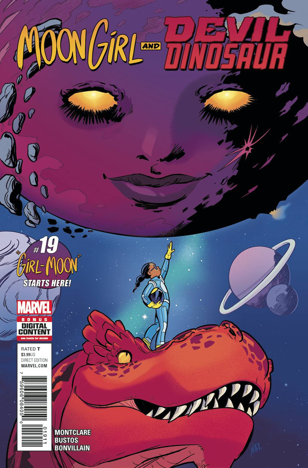 MOON GIRL AND DEVIL DINOSAUR #19 (1ST APPEARANCE GIRL MOON) 2017