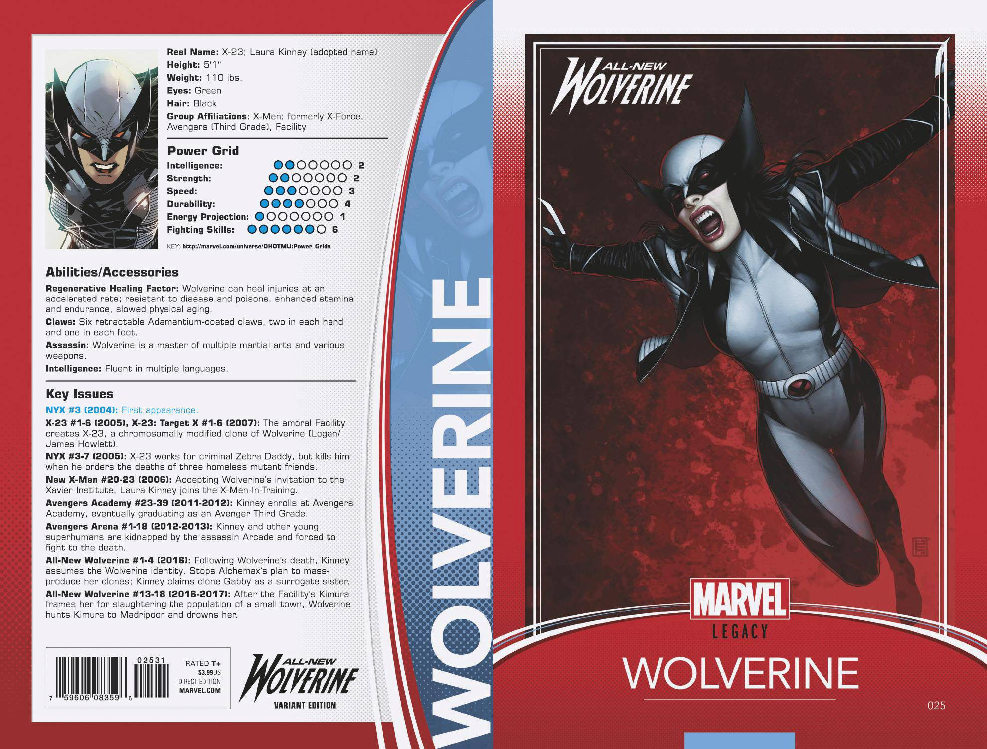 10/11/2017  ALL NEW WOLVERINE #25 CHRISTOPHER TRADING CARD VARIANT