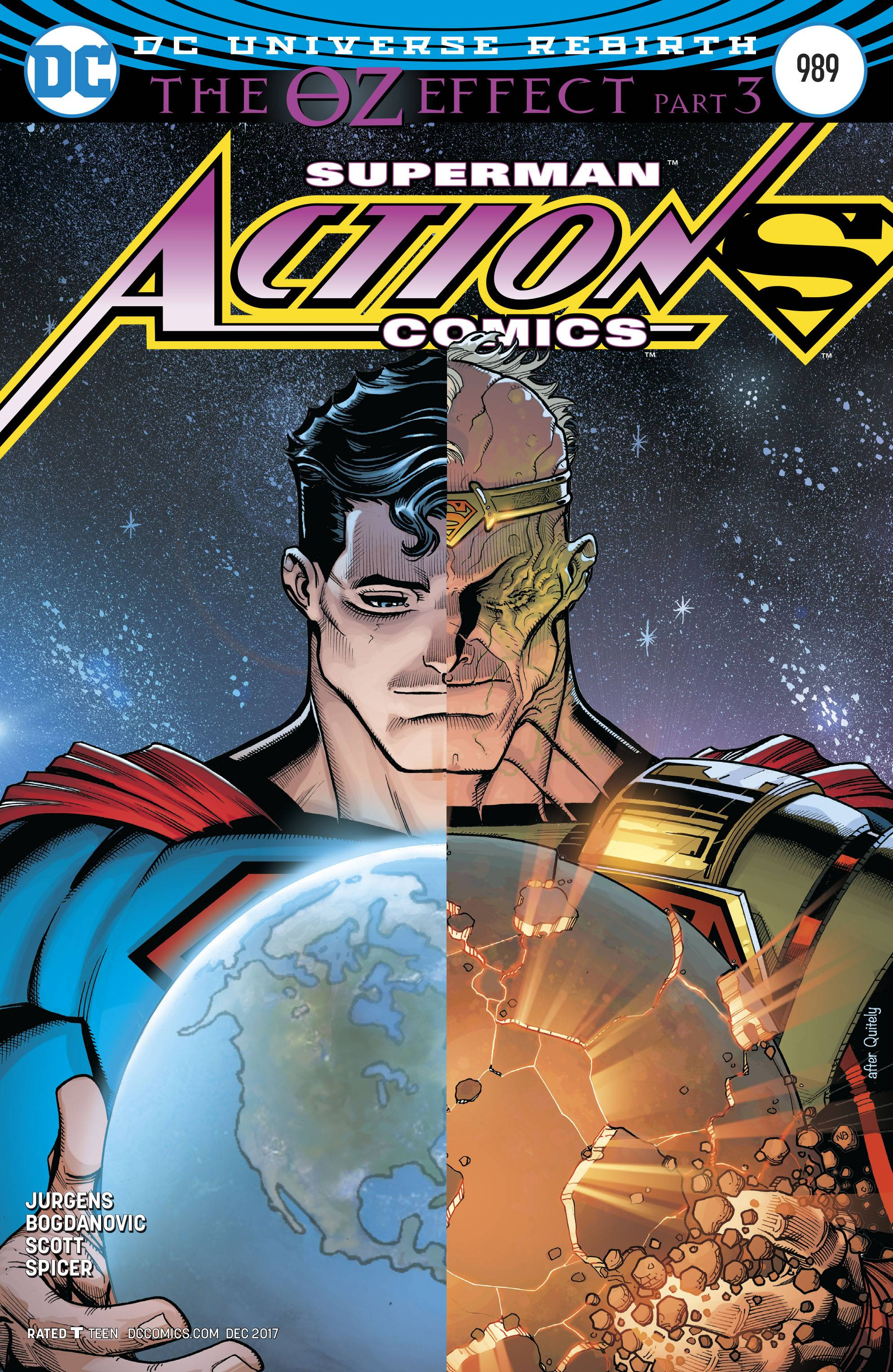 10/11/2017 ACTION COMICS 989 LENTICULAR (OZ EFFECT)