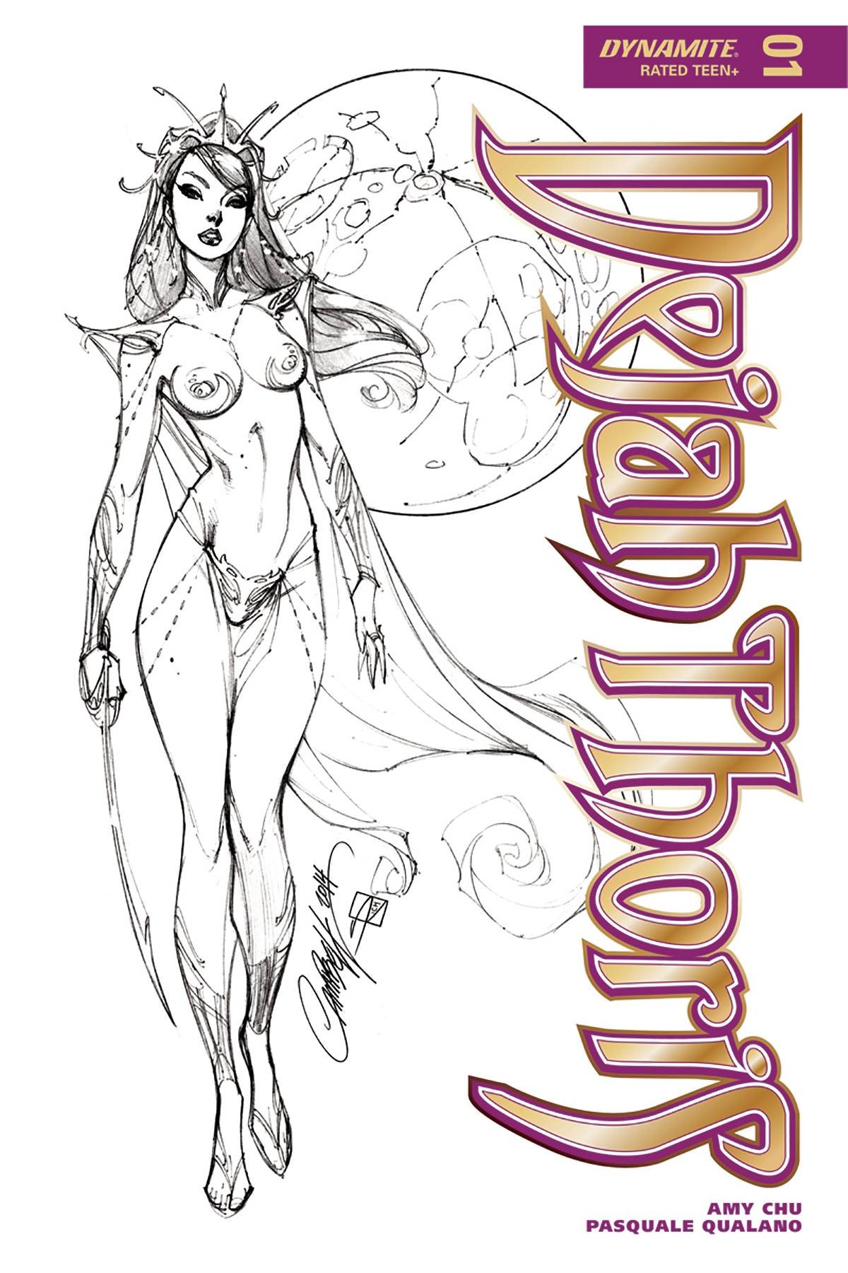 DEJAH THORIS #1 J SCOTT CAMPBELL 1:50 B&W VARIANT (02/07/2018)