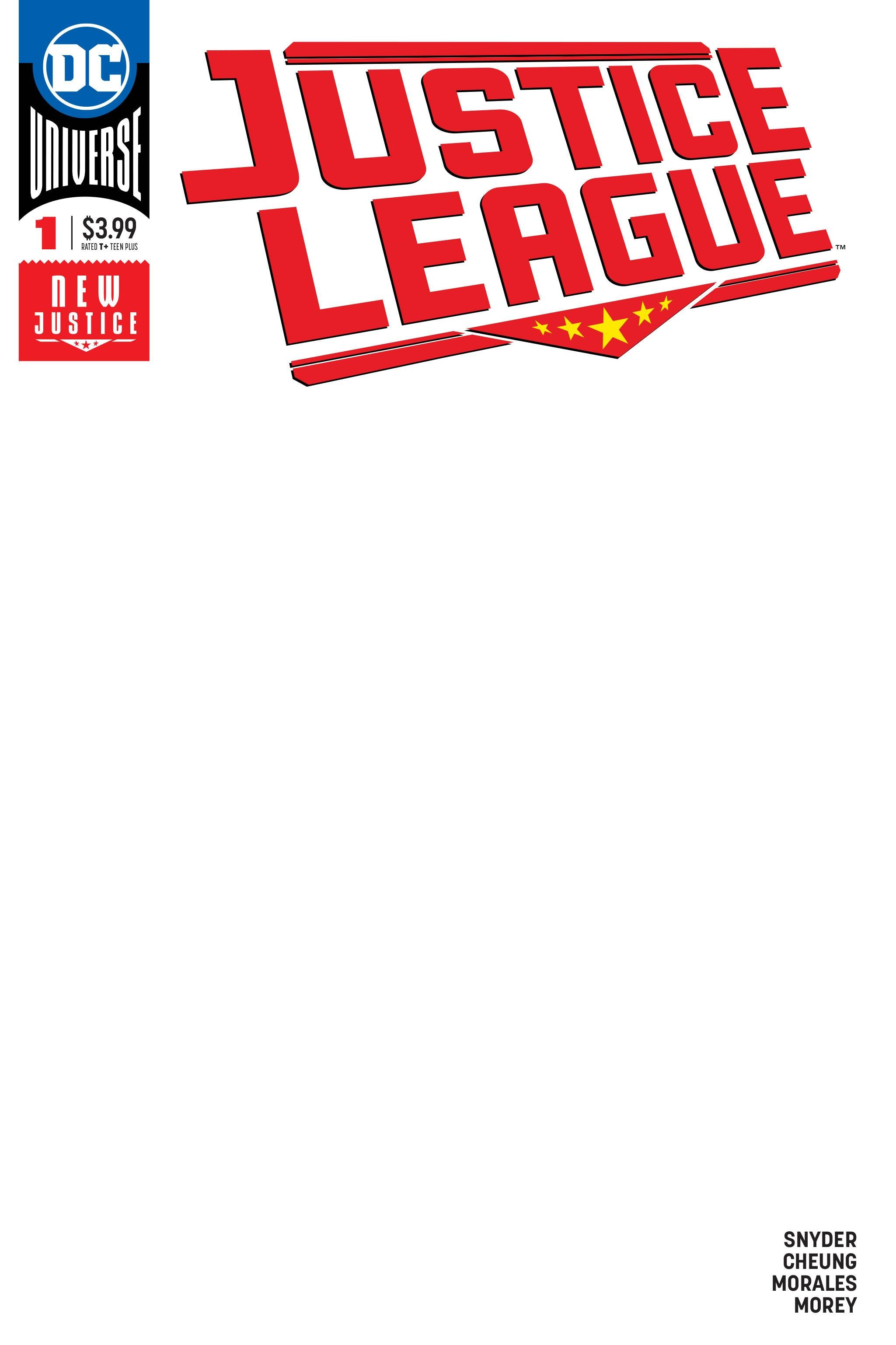 06/06/2018 JUSTICE LEAGUE #1 BLANK VARIANT