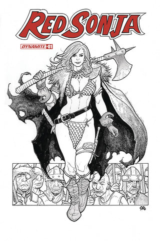 02/06/2019 RED SONJA #1 Frank Cho 1:40 B&W Variant