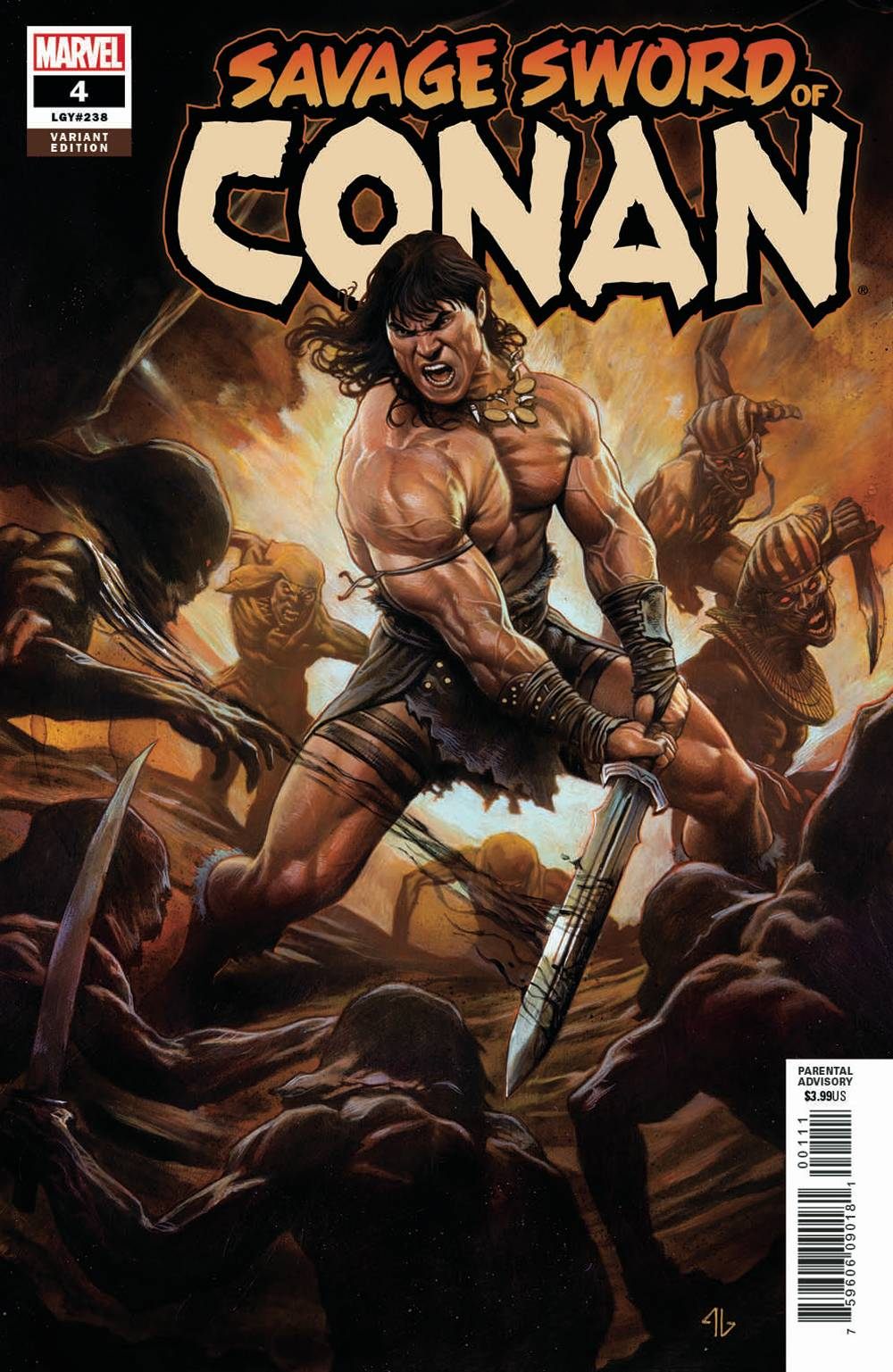 04/10/2019 SAVAGE SWORD OF CONAN #4 1:25 GRANOV VAR