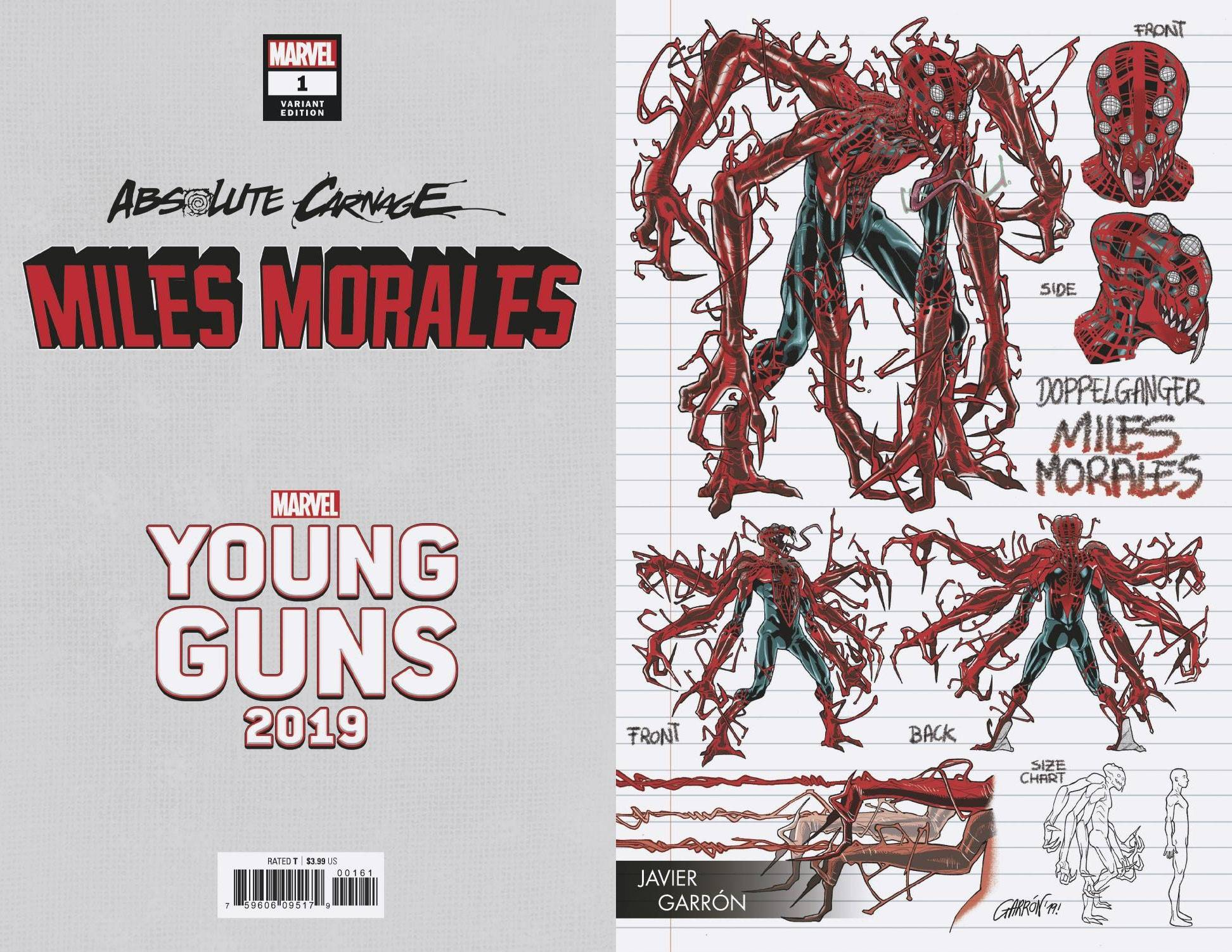 08/28/2019 ABSOLUTE CARNAGE MILES MORALES #1 (OF 3) GARRON YOUNG GUNS VARIANT