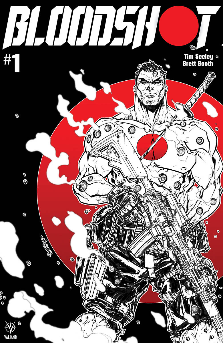 09/25/2019 BLOODSHOT (2019) #1 CVR D B&W & RED MEYERS